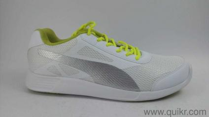 259e9511e99fe0 Puma Men s Trenzo Idp White Silver-Limepunch Sneakers-10 UK India (44.5