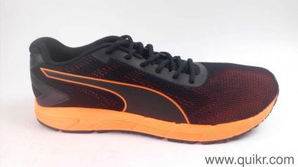 5edc87124bc Puma Men s Engine Puma Blackshocking Orange Running Shoes - 10 UK India  (44.5 EU