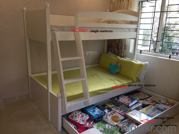 1 Year Old Double Bunk Bed Suitable For 4 Adults Barely Used For