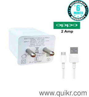 Hi Speed Mobile Charger for Oppo F9 F9 Pro F7 F5 F3 F3 Plus A71 A71K A83 A5  A3s A37F F1s / F3/Plus, F5/Youth, F7, A83, A37f, A37, A71, A57 (White)