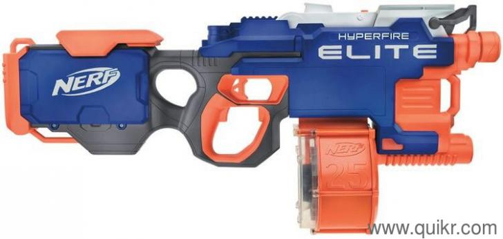 Nerf Gun Hyperfire fully automatic  Hardly used  - Almost
