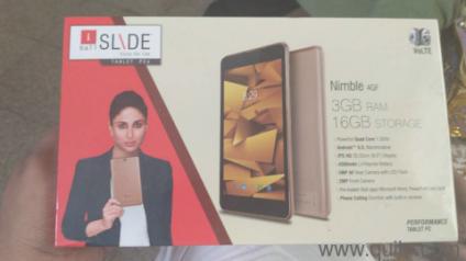 IBall Slide Nimble 4G Tablet - Unused, approx 1 year old  Dual sim 4G, 3GB  Ram, 16GB internal memory