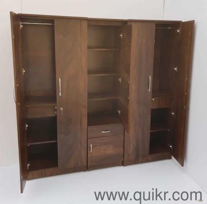 galexiya 5 door wardrobe 6x6 feet with dresser for sale brown finish fixed price