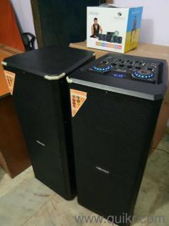 9212155166 2 0 Multimedia Speaker DJ Music System Home thrator Brand New  With Company Warranty 2 Wireless Mic Free With Remote Multimedia Speaker