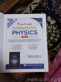 class 12th reference books and pradeep physics chemistry and biology book  both vol  1 and 2 books in good condition
