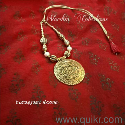 Antique gold finish handmade jewelry