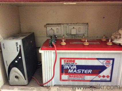 Su Kam inverter, 2 years old in good condition with Exide battery