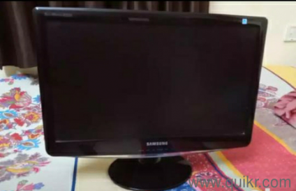 its a samsung 20inch monitor used only for office purpose no roughly  handled and looks new and working in very gud condition