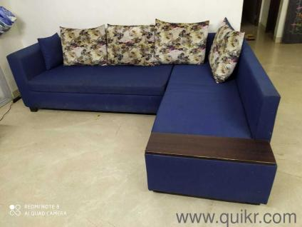 L Shaped Sofa Set Used Home Office Furniture In India Home Lifestyle Quikr Bazaar India