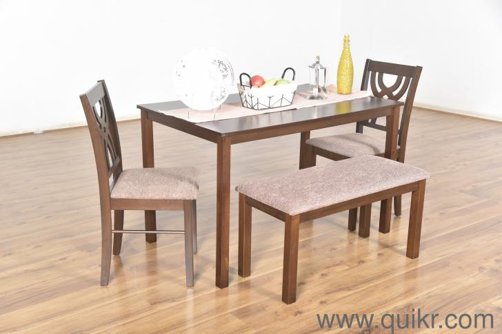 Alice Solid 4-seater Dining Table Set by Nilkamal ...