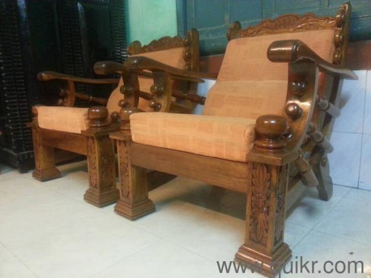 Sensational 3 1 1 Custom Made Pure Mysore Teakwood Wooden Sofa Set With Forskolin Free Trial Chair Design Images Forskolin Free Trialorg