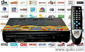 Free to Air TV Set top box with remote, more than 100 tv channels n