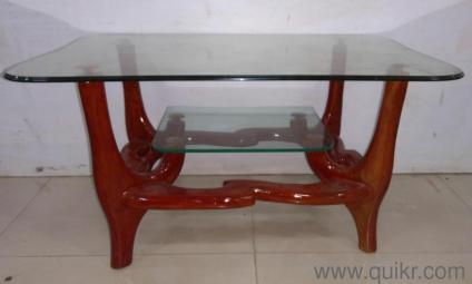QUIKR CERTIFIED _** Good Condition Gently Used Glass Top Center Table For  Sale*