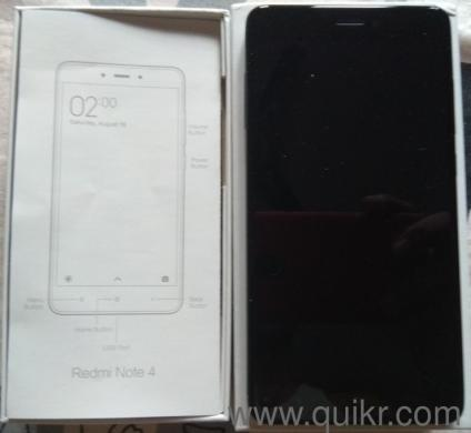 4 months old Redmi Note 4 Black 4+64GB for sale