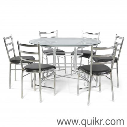 Quikr Certified BRAND NEW Glass Top 6 Seater Dinning Table For Sale