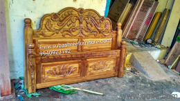 Original Teakwood Carving Antique Design Queen And King Size Cot Own Manufacturing Whole Sale Price
