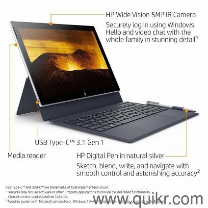 HP ENVY x2 12-inch Detachable Laptop with Stylus Pen and 4G LTE, Qualcomm  Snapdragon 835 Processor, 4 GB RAM, 128 GB flash storage, Windows 10