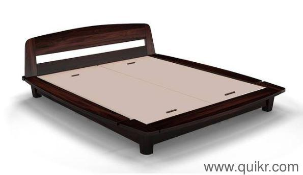 Low Platform Bed With Memory Foam Mattress Gently Home Office