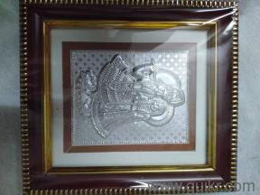 Pure silver radha krishna in photo frame