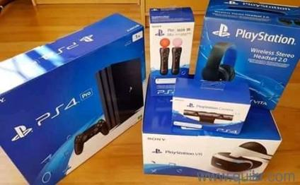 My brand new ps4 pro for sale with two controllers and VR and 10 free games  at affordable price