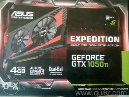 Asus Expedition GeForce GTX 1050 Ti Graphics Card with 2 year warranty With  box,manual and installation disc complete box  You can play every game
