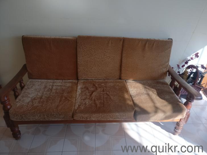 Astonishing 5 Seater Teak Wood Sofa Set In Good Condition Forskolin Free Trial Chair Design Images Forskolin Free Trialorg