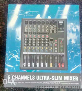 6 channel professional mixer with USB stereo and master out