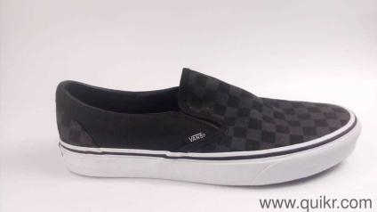 Vans Unisex Classic Slip-On Checkerboard and Black Loafers and Moccasins -  9 UK  ff5fd0140