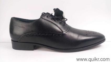 a74d512b58 Hush Puppies Men s London Toe Cap Black Leather Formal Shoes - 9 UK India (