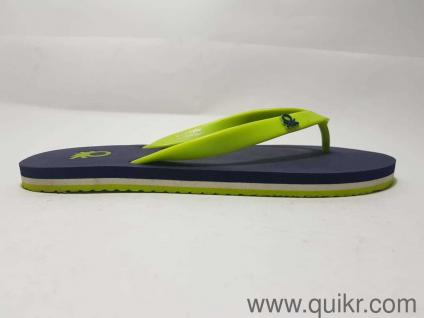 f7adebf95da327 United Colors of Benetton Men s Basic 1 Navy and Lime Flip-Flops and House  Slippers
