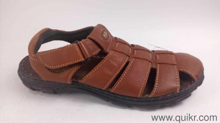 Hush Puppies Men s Simon Brown Leather Athletic and Outdoor Sandals ... e22d961660