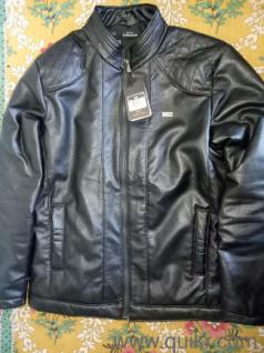 4728025e539b Black Leather Zip-Up Jacket
