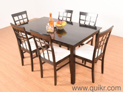 Kathy Solid 6 Seater Dining Table Set