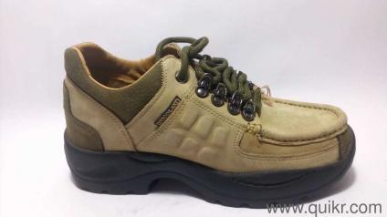 f2d338784bb91 Woodland Men s Khaki Leather Sneakers - 6 UK India (40 EU) With Replacement