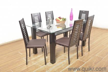 d2a965b250 County Iron Frame Glass Top 6-seater Dining Table Set by Royal Oak