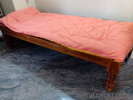Sturdy Teakwood Divan Bed With Free Mattress And Pillow Gently
