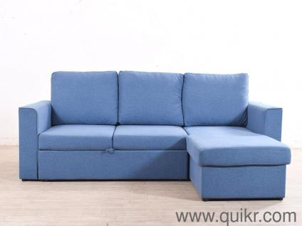 Swell Kowloon Sectional Sofa Cum Bed In Blue Color By Urban Ladder Download Free Architecture Designs Scobabritishbridgeorg