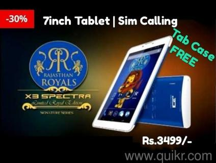 X3 SPECTRA ROYAL EDITION HD 7INCH Tab 3G Calling ! Dual SIM ! 4GB ! Dual  Cam Brand New With All Accessories