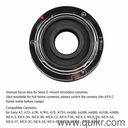 7artisans 35mm f/1 2 lens for Sony mirrorless cameras with E-mount