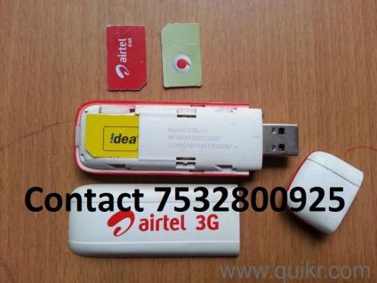 Airtel 3G E1731 DATA CARD USB MODEM All sim support Like