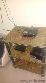 Move out sale- bed, table, tv unit and book shelf