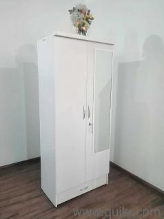 Juniberg 2 Door White finish Wardrobe by Santosh Furniture