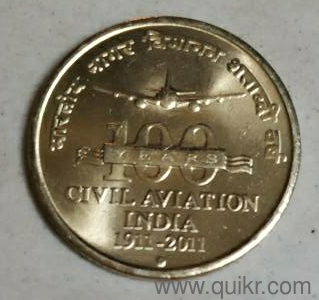 civil aviation India 100 years coin