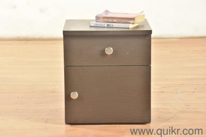Clem Bedside Table with Drawer in Wenge finish -Particle Board by AM Woods  & Furniture