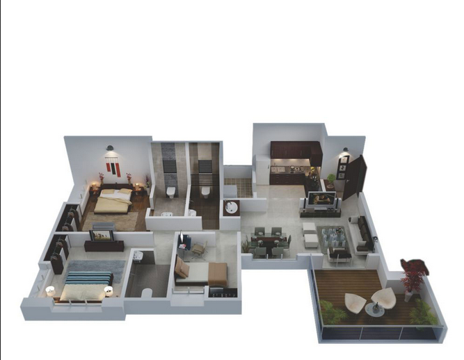 3 BHK Apartments for Sale at Bhujbal Spectrum Towers, Kharadi